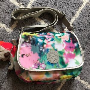 💕NWT Kipling colorful nylon messenger bag w Charm
